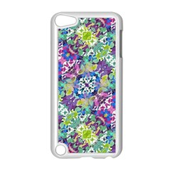 Colorful Modern Floral Print Apple Ipod Touch 5 Case (white)