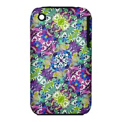 Colorful Modern Floral Print Iphone 3s/3gs