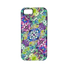 Colorful Modern Floral Print Apple Iphone 5 Classic Hardshell Case (pc+silicone)