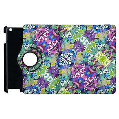 Colorful Modern Floral Print Apple Ipad 2 Flip 360 Case