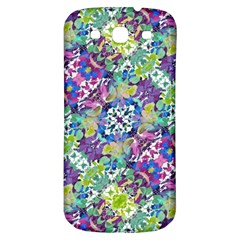Colorful Modern Floral Print Samsung Galaxy S3 S Iii Classic Hardshell Back Case