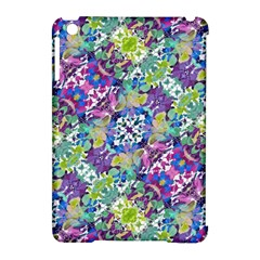 Colorful Modern Floral Print Apple Ipad Mini Hardshell Case (compatible With Smart Cover)