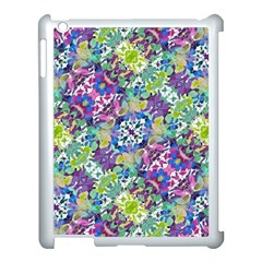 Colorful Modern Floral Print Apple Ipad 3/4 Case (white)