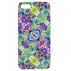 Colorful Modern Floral Print Apple Iphone 5 Hardshell Case With Stand