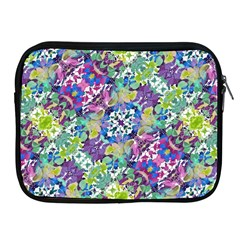 Colorful Modern Floral Print Apple Ipad 2/3/4 Zipper Cases