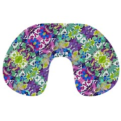 Colorful Modern Floral Print Travel Neck Pillows