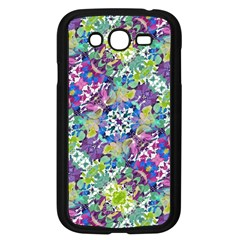 Colorful Modern Floral Print Samsung Galaxy Grand Duos I9082 Case (black)