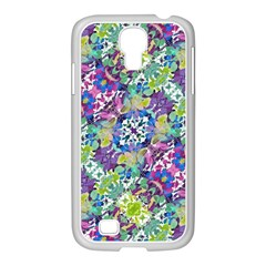 Colorful Modern Floral Print Samsung Galaxy S4 I9500/ I9505 Case (white)