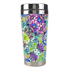 Colorful Modern Floral Print Stainless Steel Travel Tumblers
