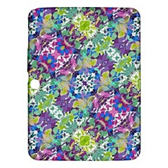 Colorful Modern Floral Print Samsung Galaxy Tab 3 (10 1 ) P5200 Hardshell Case
