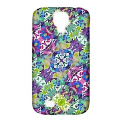 Colorful Modern Floral Print Samsung Galaxy S4 Classic Hardshell Case (pc+silicone)