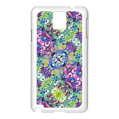 Colorful Modern Floral Print Samsung Galaxy Note 3 N9005 Case (white)