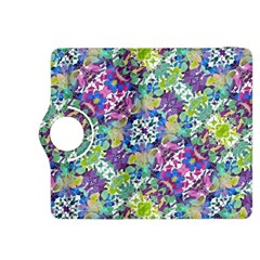 Colorful Modern Floral Print Kindle Fire Hdx 8 9  Flip 360 Case