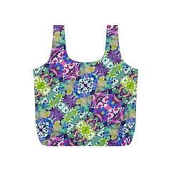 Colorful Modern Floral Print Full Print Recycle Bags (s)