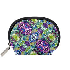 Colorful Modern Floral Print Accessory Pouches (small)