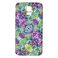 Colorful Modern Floral Print Samsung Galaxy S5 Back Case (white)