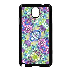 Colorful Modern Floral Print Samsung Galaxy Note 3 Neo Hardshell Case (black)