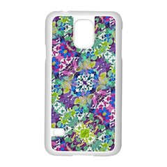 Colorful Modern Floral Print Samsung Galaxy S5 Case (white)