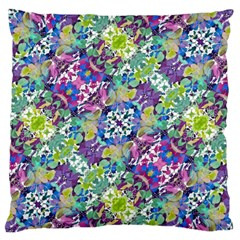 Colorful Modern Floral Print Standard Flano Cushion Case (two Sides)