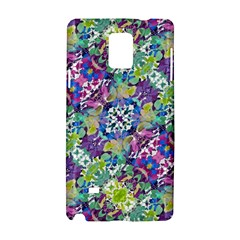 Colorful Modern Floral Print Samsung Galaxy Note 4 Hardshell Case