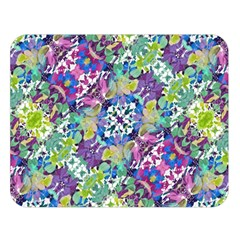 Colorful Modern Floral Print Double Sided Flano Blanket (large)