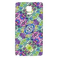 Colorful Modern Floral Print Galaxy Note 4 Back Case