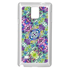 Colorful Modern Floral Print Samsung Galaxy Note 4 Case (white)