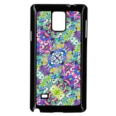 Colorful Modern Floral Print Samsung Galaxy Note 4 Case (black)