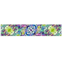 Colorful Modern Floral Print Large Flano Scarf