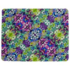 Colorful Modern Floral Print Jigsaw Puzzle Photo Stand (rectangular)