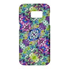 Colorful Modern Floral Print Samsung Galaxy S7 Hardshell Case