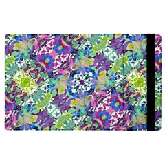Colorful Modern Floral Print Apple Ipad Pro 12 9   Flip Case
