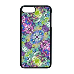 Colorful Modern Floral Print Apple Iphone 7 Plus Seamless Case (black)