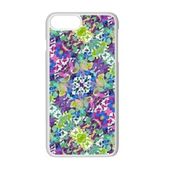 Colorful Modern Floral Print Apple Iphone 7 Plus Seamless Case (white)