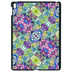 Colorful Modern Floral Print Apple Ipad Pro 9 7   Black Seamless Case