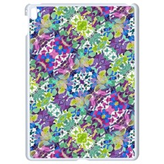 Colorful Modern Floral Print Apple Ipad Pro 9 7   White Seamless Case