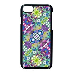 Colorful Modern Floral Print Apple Iphone 8 Seamless Case (black)