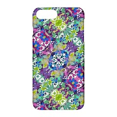 Colorful Modern Floral Print Apple Iphone 8 Plus Hardshell Case