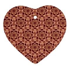 Flower Star Pattern  Ornament (heart)