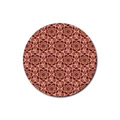 Flower Star Pattern  Rubber Coaster (round)