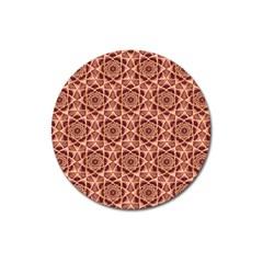 Flower Star Pattern  Magnet 3  (round)