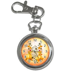 Happy Thanksgiving With Pumpkin Key Chain Watches