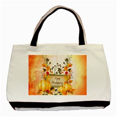 Happy Thanksgiving With Pumpkin Basic Tote Bag