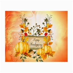 Happy Thanksgiving With Pumpkin Small Glasses Cloth (2 Side)