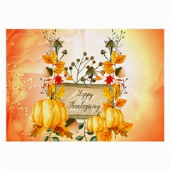 Happy Thanksgiving With Pumpkin Large Glasses Cloth