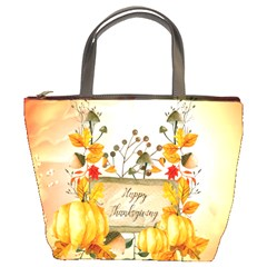 Happy Thanksgiving With Pumpkin Bucket Bags