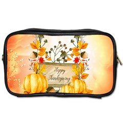 Happy Thanksgiving With Pumpkin Toiletries Bags