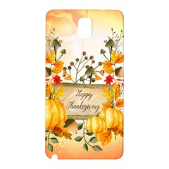 Happy Thanksgiving With Pumpkin Samsung Galaxy Note 3 N9005 Hardshell Back Case