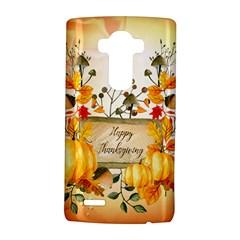 Happy Thanksgiving With Pumpkin Lg G4 Hardshell Case