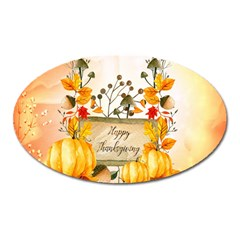 Happy Thanksgiving With Pumpkin Oval Magnet
